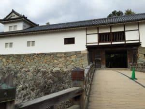 彦根城の掛橋と天秤櫓