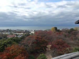彦根城から望む琵琶湖