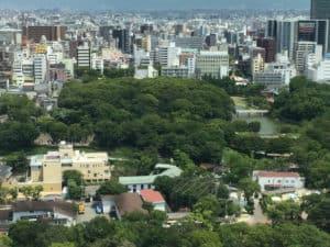通天閣から撮影した茶臼山