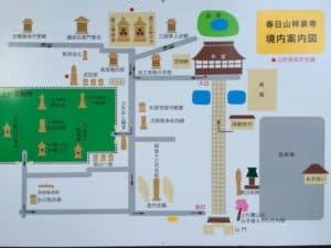 林泉寺の墓所地図