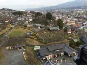 上山城から城域の風景