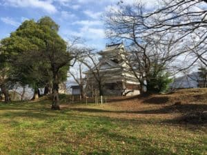 上山城の本丸跡