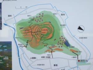 長谷堂城の縄張り図