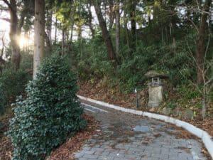 長谷堂城の登山道