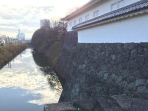 山形城の水堀