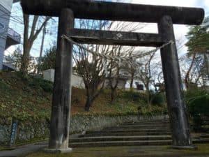 白石城の厩口門跡