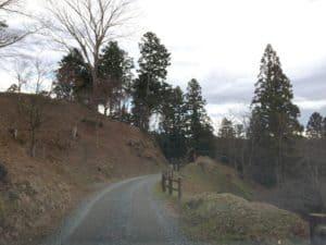 二本松城の尾根道