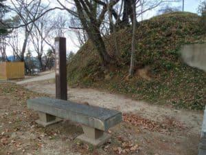 大森城の空堀跡