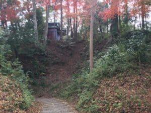 韮崎城の虎口