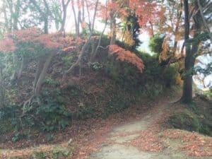 韮山城の本丸へ