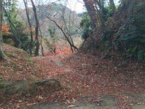 韮崎城の堀切
