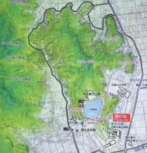 韮崎城の全体図