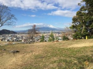 韮崎城からの展望