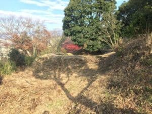 韮崎城の煙硝曲輪