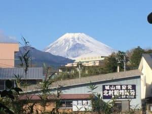長久保城から見えた富士山