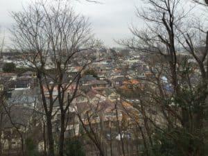 大庭城からの眺め