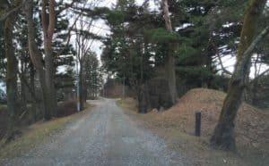 二本松城の北の尾根道