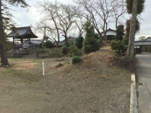 三田村城の土塁