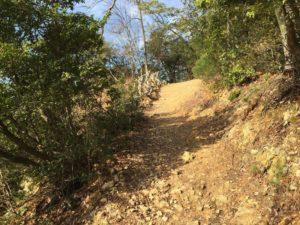 小谷城の登山道