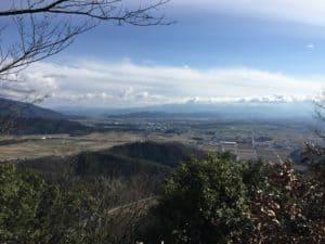 小谷城から横山城方面の展望