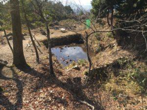 小谷城の馬洗池