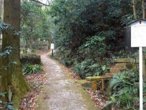 佐和山城への登山道
