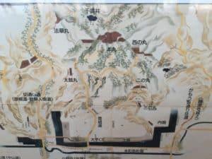 佐和山城の案内図