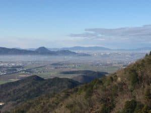 観音正寺から草津方面の展望