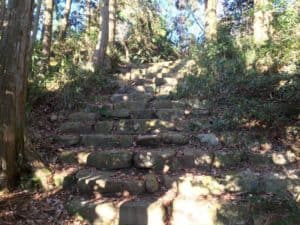 観音寺城の石段