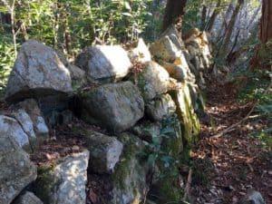 観音寺城の本丸石垣