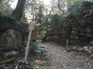 観音寺城の本丸・虎口