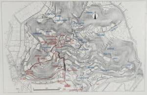 安土城の縄張り図