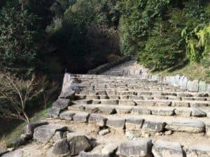 安土城の石段