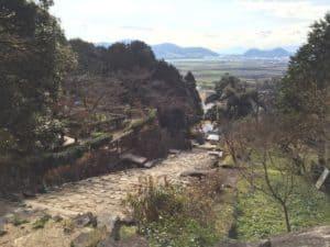 安土城の大手道