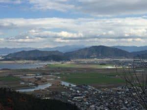 八幡山城・北の丸からの展望