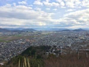 近江八幡の市街地
