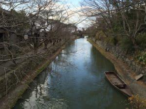 八幡山城の水堀