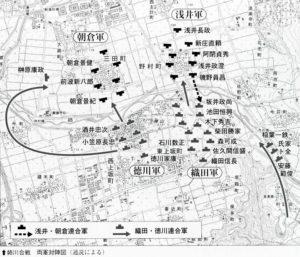 姉川の戦いマップ