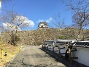 大洲城の登城口