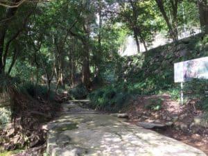 宇和島城の登山道