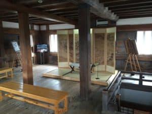 宇和島城の天守最上階