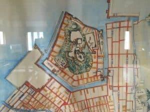 宇和島城の縄張り図