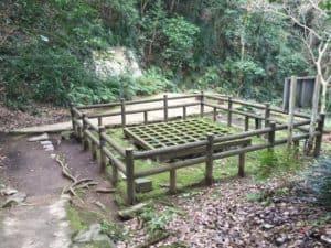 宇和島城の井戸屋形・井戸