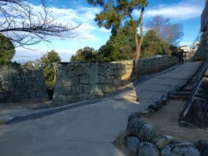 松山城の大手門跡