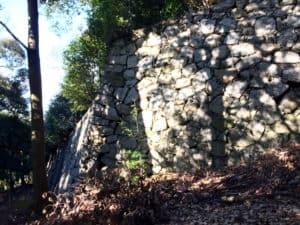 松山城の登り石垣