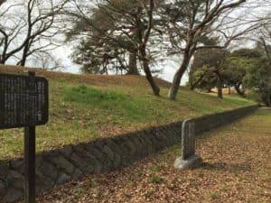 館林城の本丸土塁