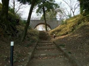 佐野城の堀切