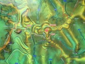 唐沢山城の全体図