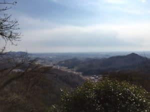 唐沢山城から佐野方面の展望
