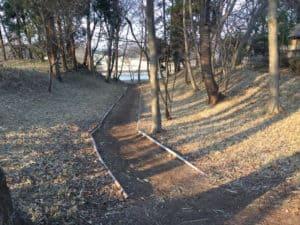古河御所の堀切